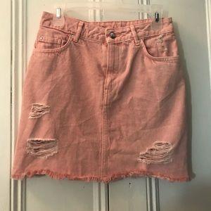 🌿3/$10 Pink H&M denim skirt